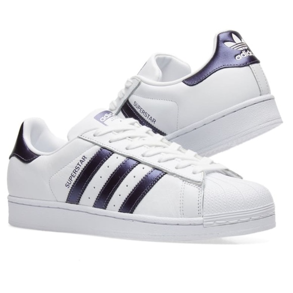 a42f9000e091 Adidas Superstar Sneakers (White  Metallic Purple)